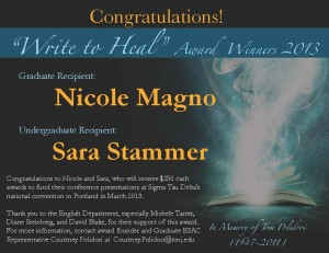 Write to Heal Award Winners